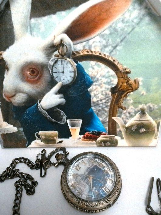 """Часы ручной работы. Ярмарка Мастеров - ручная работа. Купить Часы карманные """"Ретро-авто"""". Handmade. Часы, винтаж"""