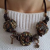 handmade. Livemaster - original item Necklace lampwork