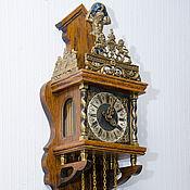 Винтаж ручной работы. Ярмарка Мастеров - ручная работа Часы настенные «Атлант держит землю» мелодичный бой бронза антиквариат. Handmade.