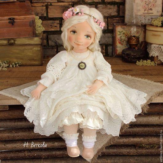 Коллекционные куклы ручной работы. Ярмарка Мастеров - ручная работа. Купить Яночка текстильная коллекционная будуарная интерьерная кукла. Handmade.