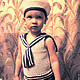 Одежда для мальчиков, ручной работы. Майка и берет в морском стиле. Юлия (dakata). Ярмарка Мастеров. Бескозырка, для мальчика, синий, детская