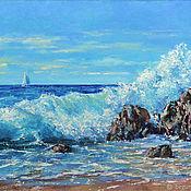 Картины и панно handmade. Livemaster - original item Painting the Sea surf wave seascape book. Handmade.