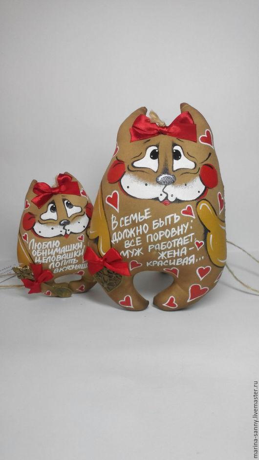 Ароматизированные куклы ручной работы. Ярмарка Мастеров - ручная работа. Купить Кофейная кошечка, 17 см(О семье). Handmade. Коричневый