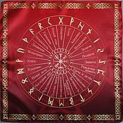 Фен-шуй и эзотерика handmade. Livemaster - original item Tablecloth runic divination 40х40. Handmade.