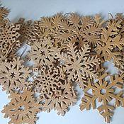 Подарки к праздникам handmade. Livemaster - original item snowflakes made of birch bark. Handmade.
