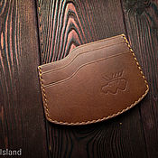Сумки и аксессуары handmade. Livemaster - original item Cardholder-Chestnut Hatchet, business card holder, mini wallet, wallet. Handmade.