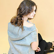 Одежда handmade. Livemaster - original item Felted vest made of felt, wool and silk