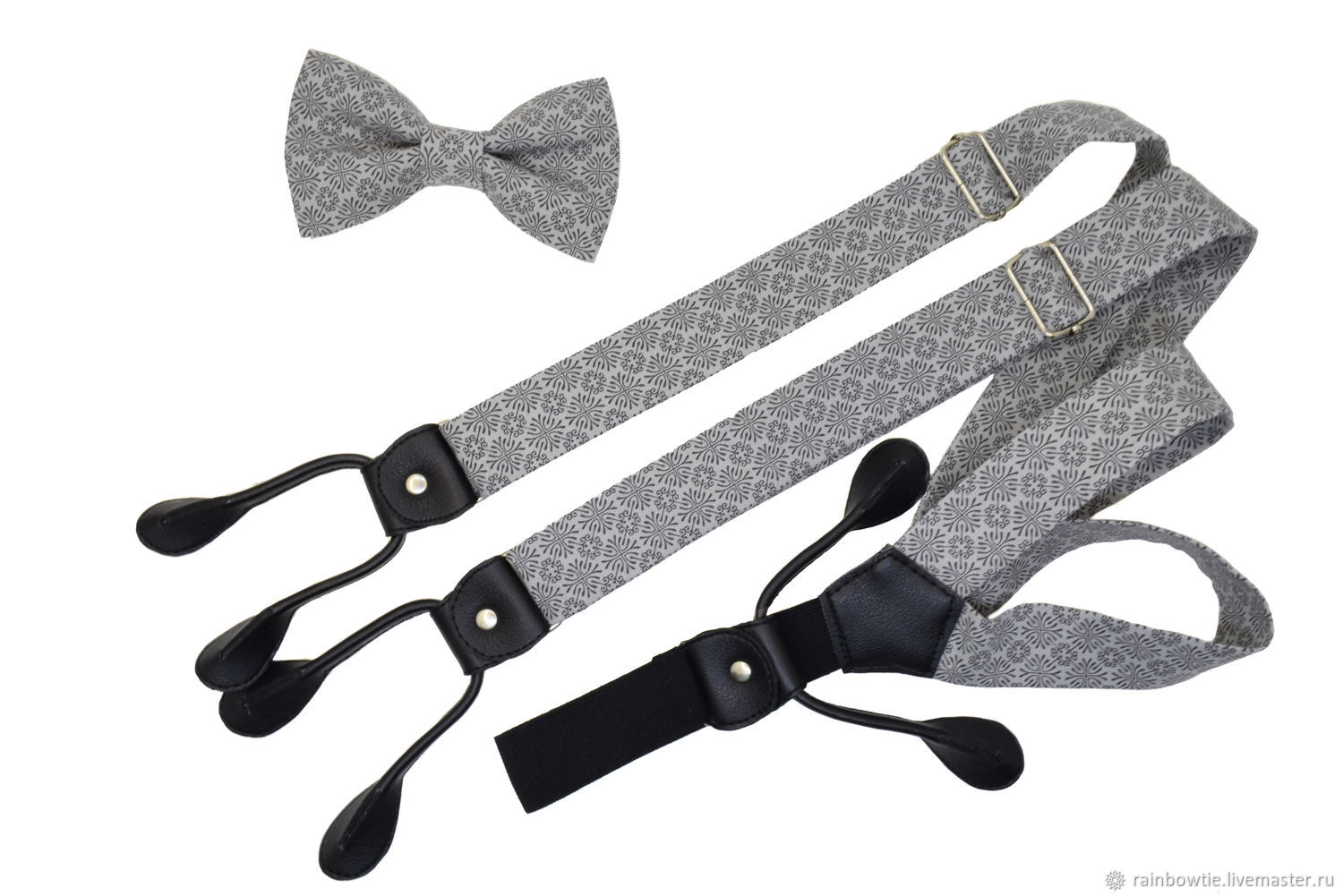 Set bow tie and suspenders 'MS SERIF', Ties, Moscow,  Фото №1