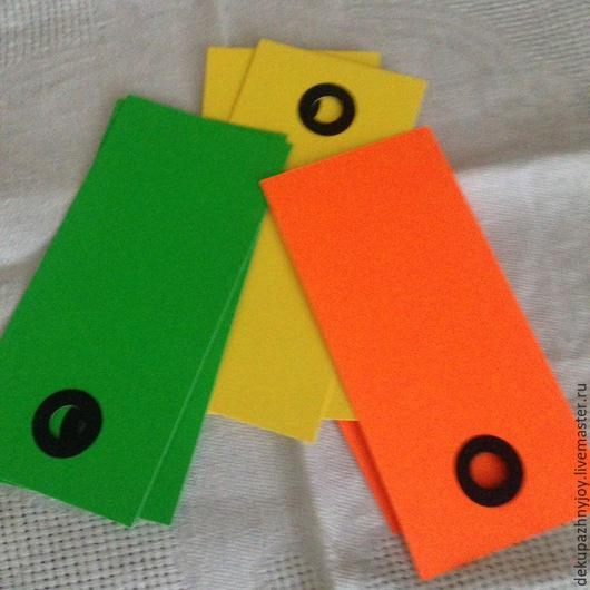 Бирочки в ассортименте Бирки из плотной бумаги\картона - прямоугольные, 3 цвета. В наборе 6 штук, 3 цвета по 2 штучки Декупажная радость