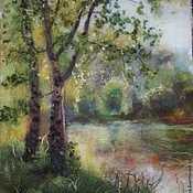 """Картины и панно ручной работы. Ярмарка Мастеров - ручная работа """"Душа леса"""" картина из шерсти. Handmade."""