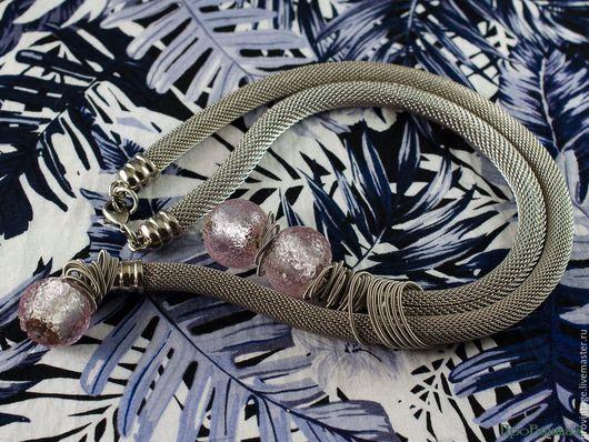 Винтажные украшения. Ярмарка Мастеров - ручная работа. Купить Ожерелье с муранским стеклом. Handmade. Серебряный, муранское стекло, стильное украшение