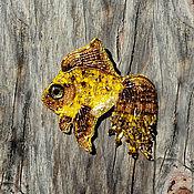 Украшения ручной работы. Ярмарка Мастеров - ручная работа Брошь Золотая рыбка. Handmade.