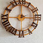 Часы классические ручной работы. Ярмарка Мастеров - ручная работа 3D часы настенные. Handmade.