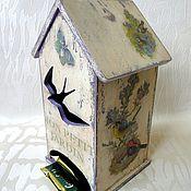 "Для дома и интерьера handmade. Livemaster - original item Tea lodge ""My small garden"". For tea bags.. Handmade."