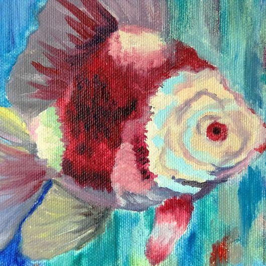 Животные ручной работы. Ярмарка Мастеров - ручная работа. Купить Рыбка Фанта. Handmade. Комбинированный, красный синий голубой