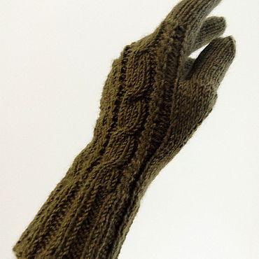 Accessories handmade. Livemaster - original item Knitted warm gloves. Handmade.