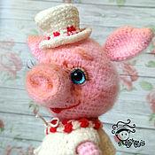 Мягкие игрушки ручной работы. Ярмарка Мастеров - ручная работа Свинка Люсиль игрушка. Handmade.