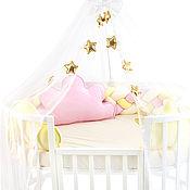 Бортики в кроватку ручной работы. Ярмарка Мастеров - ручная работа Бортики в кроватку Сластёна розовый. Handmade.