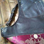 Для дома и интерьера handmade. Livemaster - original item Leather apron Mason Chocolate. Handmade.