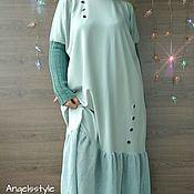 Одежда ручной работы. Ярмарка Мастеров - ручная работа Платье нюдово-мятное. Handmade.
