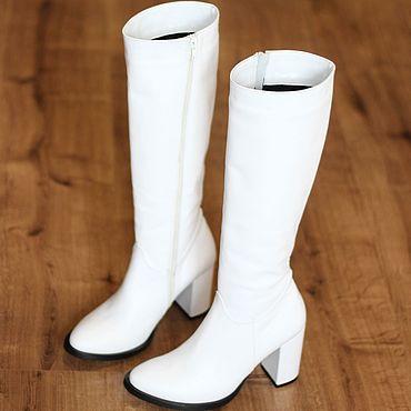Обувь ручной работы. Ярмарка Мастеров - ручная работа Сапоги белые зимние. Handmade.