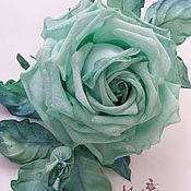 Украшения ручной работы. Ярмарка Мастеров - ручная работа Роза из шёлка. Handmade.