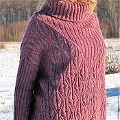 """Одежда ручной работы. Ярмарка Мастеров - ручная работа Вязаный свитер оверсайз """"Зимний вереск"""". Handmade."""