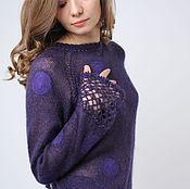 Одежда ручной работы. Ярмарка Мастеров - ручная работа Фиолетовый горошек. Handmade.