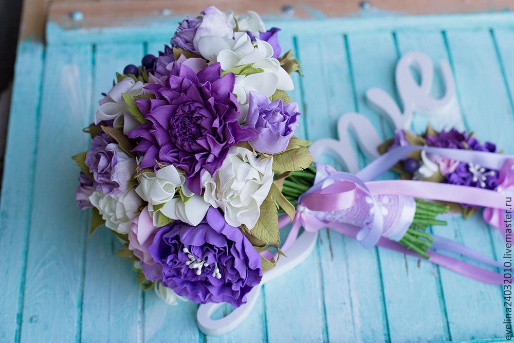 Красивые цветы букеты из фома