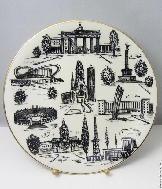 Картины цветов ручной работы. Ярмарка Мастеров - ручная работа. Купить Seltmann Weiden  Черно белый мир декоративная   тарелка. Handmade.