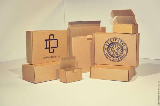 Упаковка ручной работы. Ярмарка Мастеров - ручная работа. Купить Коробка с печатью логотипа. Handmade. Комбинированный, микрогофрокартон