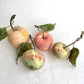 handmade. Livemaster - original item Peaches and apples (for the interior). Handmade.