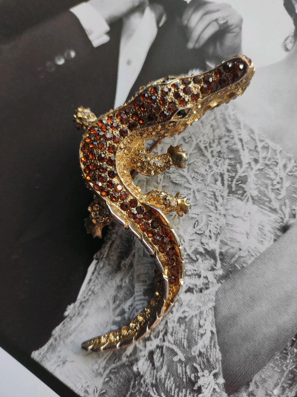 Винтаж: Брошь-крокодил, Броши винтажные, Санкт-Петербург,  Фото №1