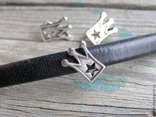 """Для украшений ручной работы. Ярмарка Мастеров - ручная работа. Купить Бусина """"Корона"""" для regaliz (регализ) серебро рег013. Handmade."""