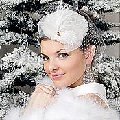 Свадебный салон handmade. Livemaster - original item Fur wedding hat transformer. Handmade.