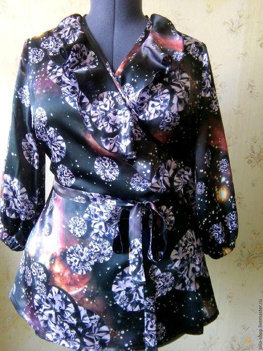 Блузки ручной работы. Ярмарка Мастеров - ручная работа. Купить Шелковая блузка с запахом. Handmade. Блузка, блузка на каждый день