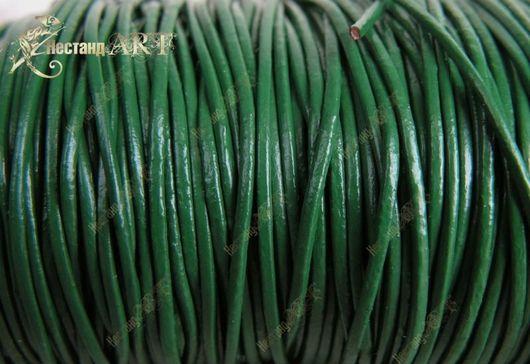 Шнур кожаный зеленый  SRF144