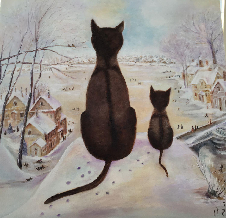 """Картина маслом """" Первая зима """", Картины, Владивосток,  Фото №1"""