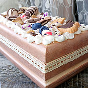 Для дома и интерьера handmade. Livemaster - original item The box is decorated with sweet Chocolate. Handmade.