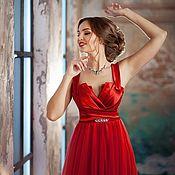 "Одежда handmade. Livemaster - original item ""Sophistication in red"" designer Angelina Gruzdeva. Handmade."