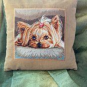Картины ручной работы. Ярмарка Мастеров - ручная работа Вышитая картина (или подушка) «Любимец». Handmade.