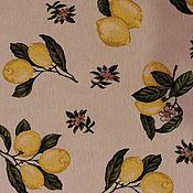 Ткань гобеленовая-лимончики