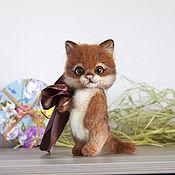 Куклы и игрушки ручной работы. Ярмарка Мастеров - ручная работа Котик. Валяный котенок Солнышко.. Handmade.