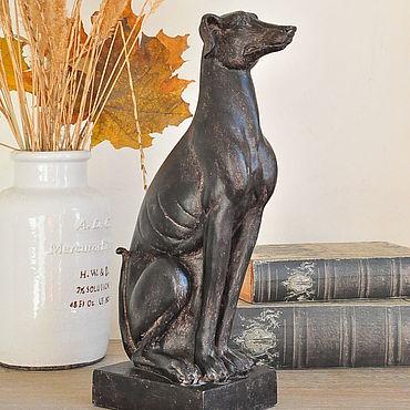 Для дома и интерьера ручной работы. Ярмарка Мастеров - ручная работа Бетонная статуэтка гончей собаки в стиле  Прованс. Handmade.