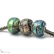 Украшения handmade. Livemaster - original item Charms Fireflies lampwork murano glass silver. Handmade.