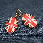 Украшения handmade. Livemaster - original item Earrings bronze the British flag. Handmade.