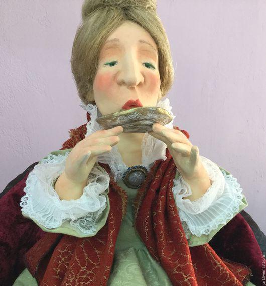 Коллекционные куклы ручной работы. Ярмарка Мастеров - ручная работа. Купить Чаепитие. Handmade. Авторская работа, папье-маше