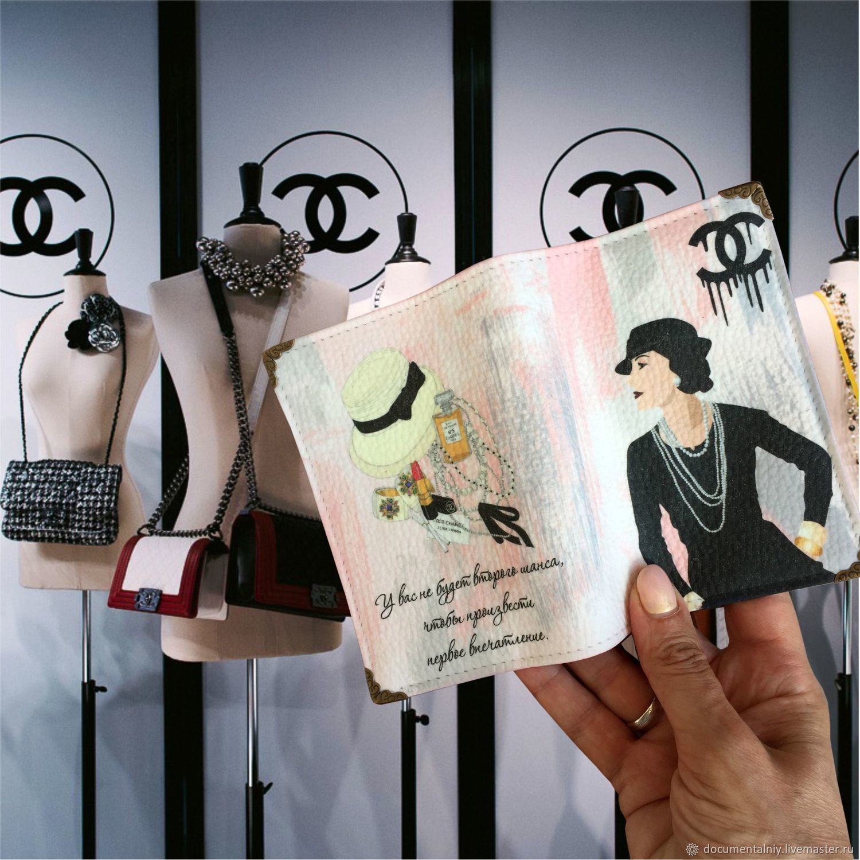 Passport cover avtodokumentov or 'Coco Chanel', Passport cover, Obninsk,  Фото №1