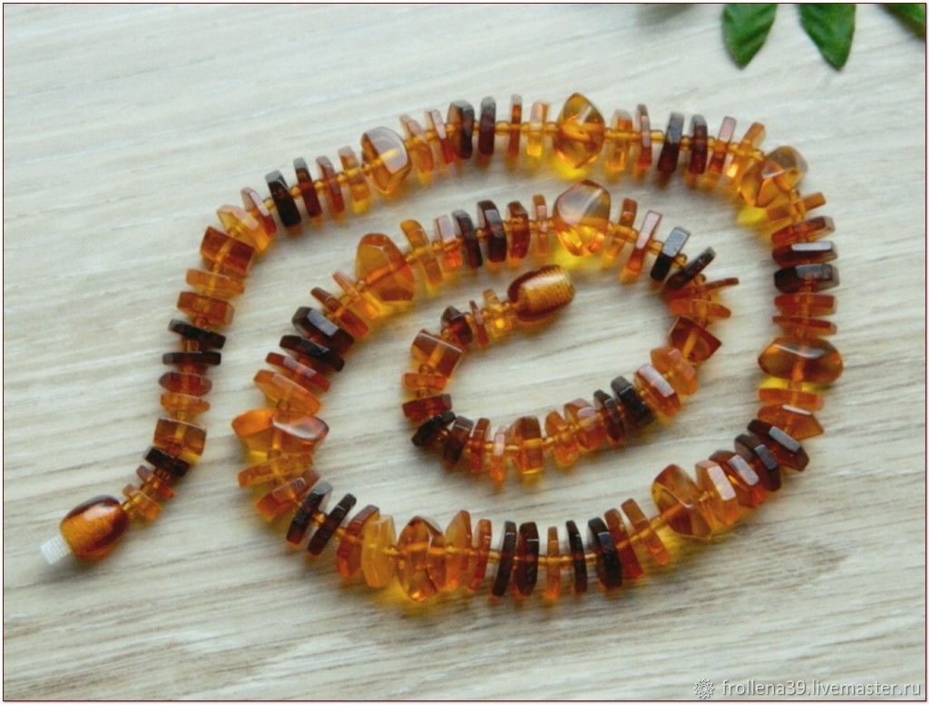 Amber. Beads 'Chips with paprika' amber, Necklace, Moscow,  Фото №1