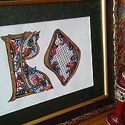 Подарки к праздникам handmade. Livemaster - original item Personal initials, personalized gift. Handmade.